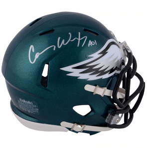 Carson Wentz Philadelphia Eagles Autographed Riddell Speed Mini Helmet