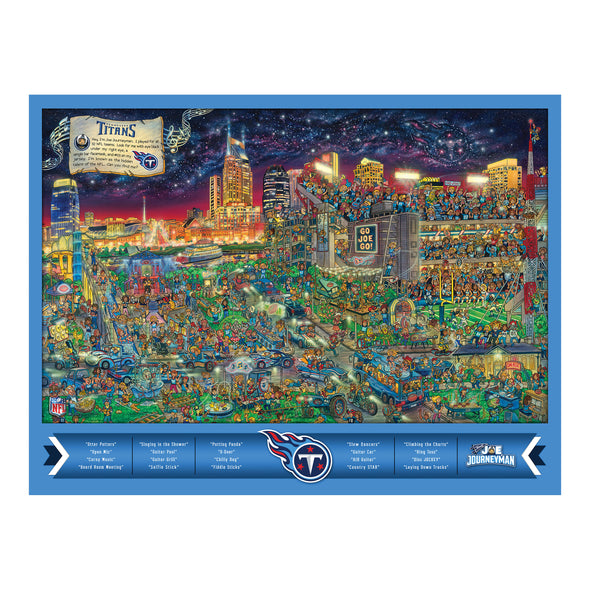 Joe Journeyman 18'' x 24'' 500-Piece Team Puzzle Tennessee Titans