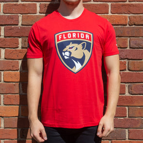 Florida Panthers Iconic Primary Colour Logo Graphic T-Shirt