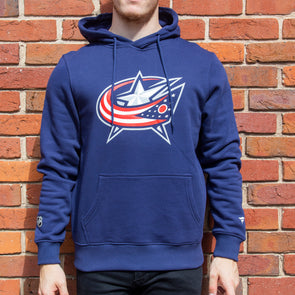 Columbus Blue Jackets Iconic Primary Colour Logo Graphic Hoodie