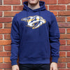 Nashville Predators Iconic Primary Colour Logo Graphic Hoodie