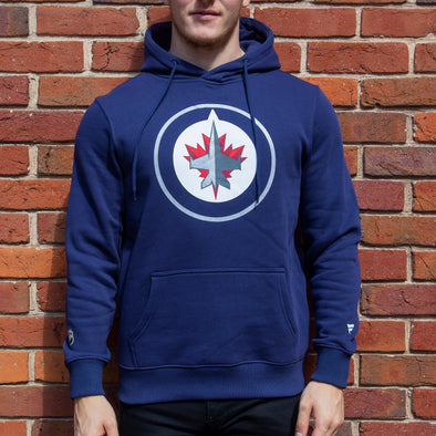 Winnipeg Jets Iconic Primary Colour Logo Graphic Hoodie