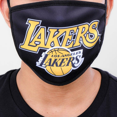 Pro Standard 2 Piece Set NBA Los Angeles Lakers Adult Face Mask