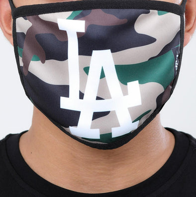 Pro Standard 2 Piece Set MLB Los Angeles Dodgers Adult Face Mask