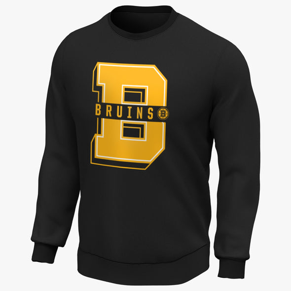 NHL Boston Bruins College Core Graphic Crew Sweatshirt