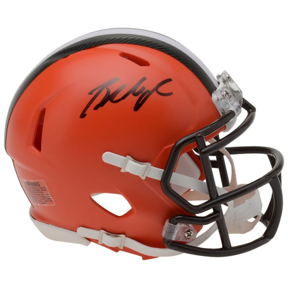 Baker Mayfield Cleveland Browns Autographed Riddell Speed Mini Helmet