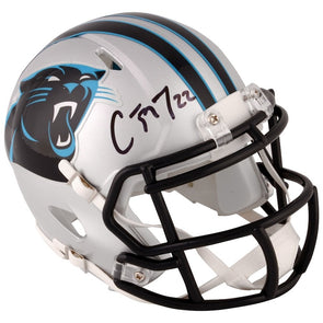 Christian McCaffrey Carolina Panthers Autographed Riddell Speed Mini Helmet