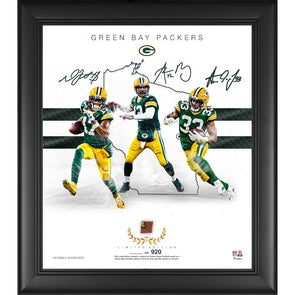 "Green Bay Packers Limited Edition Framed 15"" x 17"" Collage with a Piece of Game Used Football"