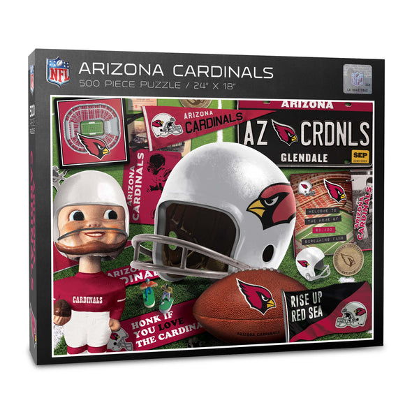 YouTheFan NFL Arizona Cardinals Retro Series Puzzle - 500 Pieces