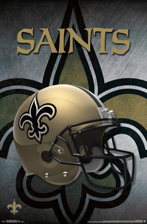 New Orleans Saints Helmet Football NFL Poster