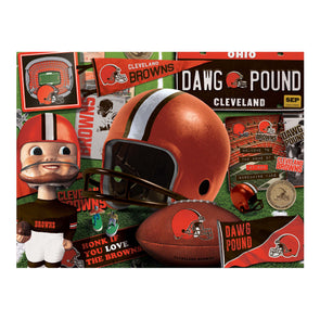 YouTheFan NFL Cleveland Browns Retro Series Puzzle - 500 Pieces