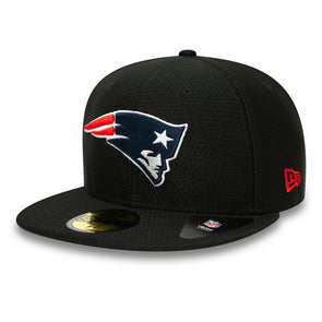 New England Patriots Hex Tech Black 59FIFTY Fitted Cap
