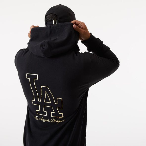 MLB Los Angeles Dodgers Metallic Black Hoodie