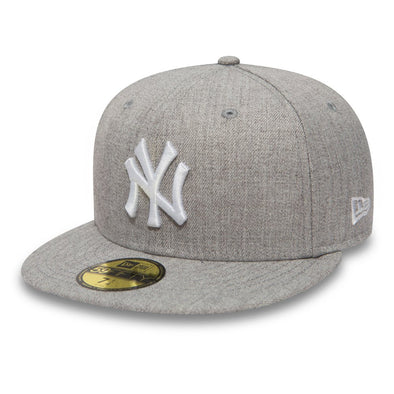 New York Yankees Essential Heather Grey 59FIFTY Fitted Cap