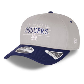 Los Angeles Dodgers Wordmark Grey 9FIFTY Stretch Snapback Cap