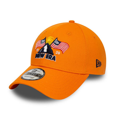 New Era USA Flag Mountain Orange 9FORTY Cap