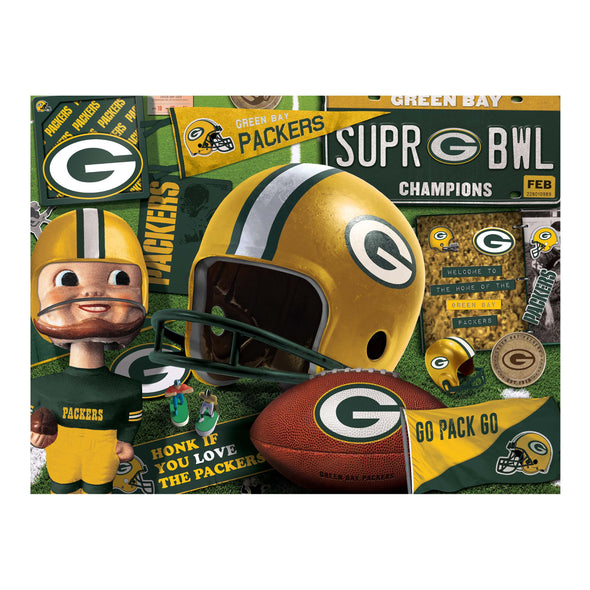 YouTheFan NFL Green Bay Packers Retro Series Puzzle - 500 Pieces