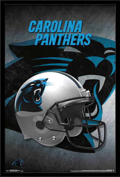 Carolina Panthers Helmet Football NFL Poster