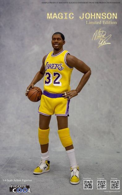 NBA Collection Action Figure 1/6 Magic Johnson Los Angeles Lakers Limited Edition 30 cm