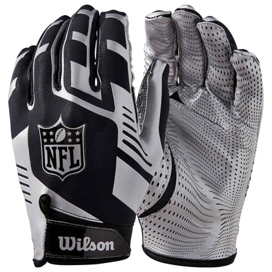 Wilson Stretch Fit NFL Receiver Glove Silver