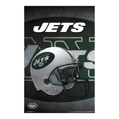 New York Jets Helmet Football NFL Poster