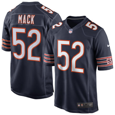 Khalil Mack #52 Chicago Bears Game Football NFL Jersey Navy