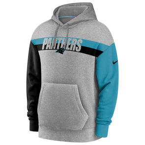 Men's Carolina Panthers Nike Grey Heritage Tri-Blend Pullover Hoodie