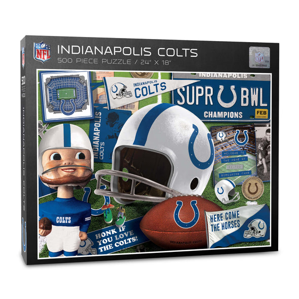YouTheFan NFL Indianapolis Colts Retro Series Puzzle - 500 Pieces
