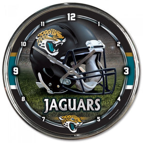 Jacksonville Jaguars Chrome Clock