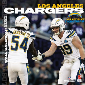 Los Angeles Chargers NFL Wall Calendar 2021