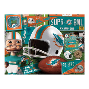 YouTheFan NFL Miami Dolphins Retro Series Puzzle - 500 Pieces