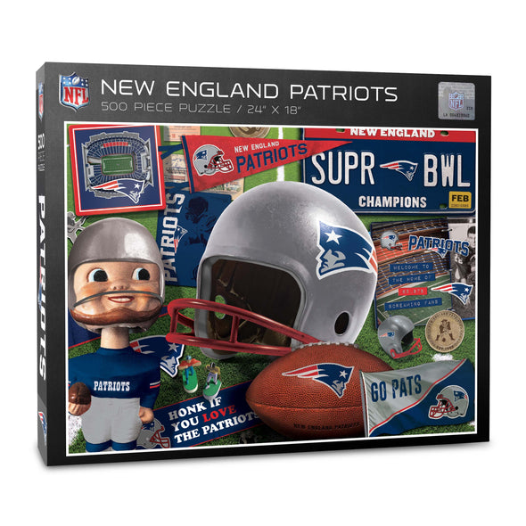 YouTheFan NFL New England Patriots Retro Series Puzzle - 500 Pieces