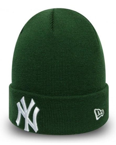 New Era MLB New York Yankees League Essential Green Cuff Knit