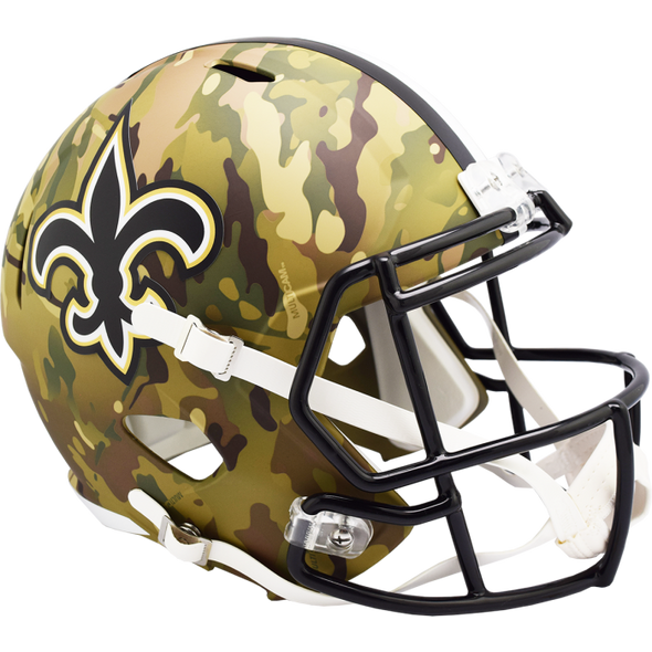 New Orleans Saints NFL Camo Alternate Full Size Replica Speed Helmet
