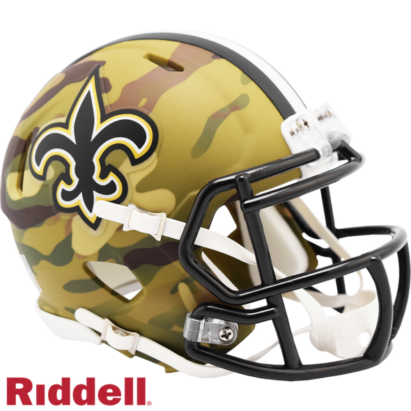 Riddell New Orleans Saints Camo Mini Speed Helmet