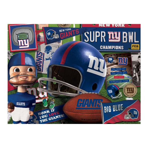 YouTheFan NFL New York Giants Retro Series Puzzle - 500 Pieces
