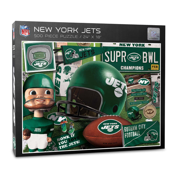 YouTheFan NFL New York Jets Retro Series Puzzle - 500 Pieces