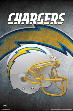 Los Angeles Chargers Helmet Football NFL Poster