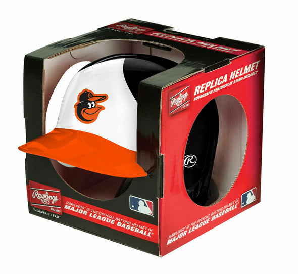 Rawlings MLB Baltimore Orioles Mini Replica Helmet with Autograph Pen/Display Stand