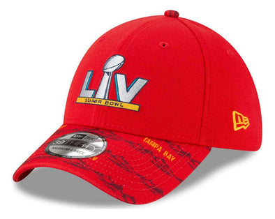 Super Bowl LV Red Pattern 39THIRTY Stretch Fit Cap