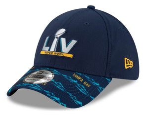 Super Bowl LV Blue Pattern 39THIRTY Stretch Fit Cap