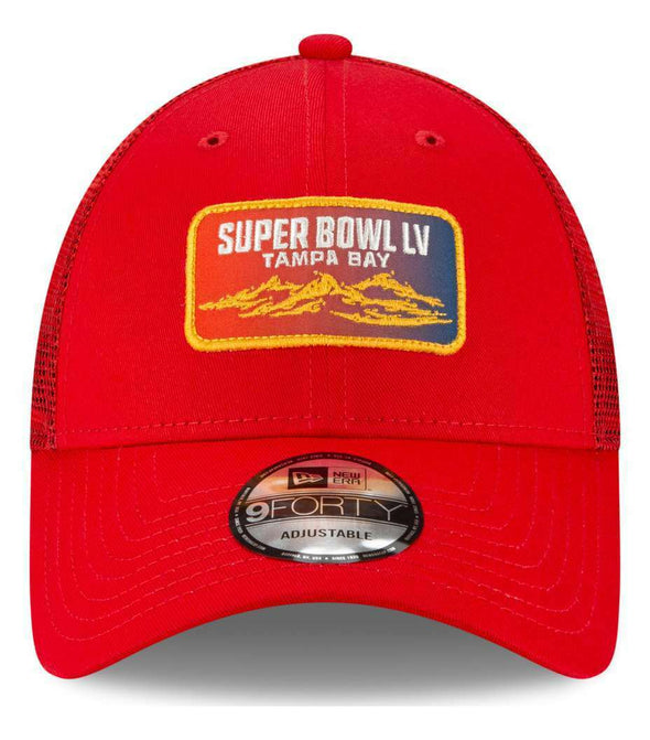 Super Bowl LV Red Patch Trucker Cap