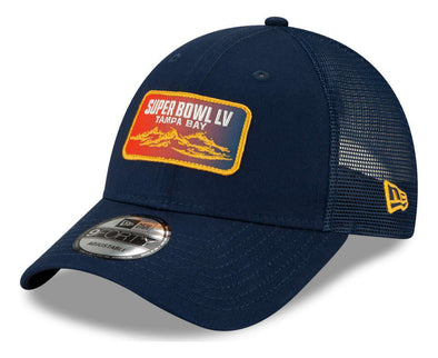 Super Bowl LV Blue Patch Trucker Cap