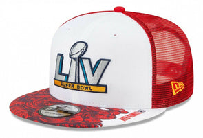 Super Bowl LV Red Trucker 9FIFTY Snapback Cap