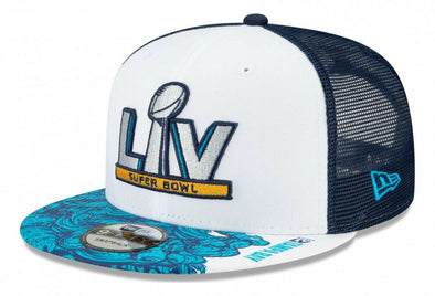 Super Bowl LV Blue Trucker 9FIFTY Snapback Cap
