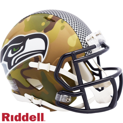 Riddell Seattle Seahawks Camo Mini Speed Helmet