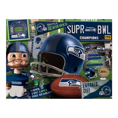 YouTheFan NFL Seattle Seahawks Retro Series Puzzle - 500 Pieces