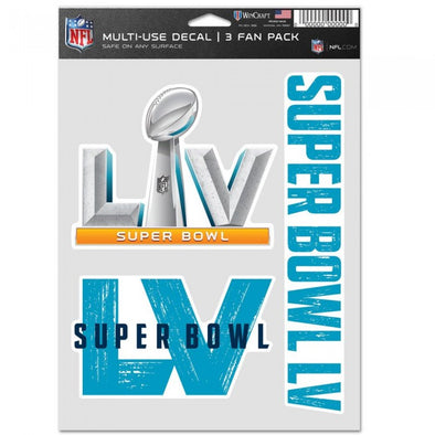 Super Bowl LV Multi Use Decal 3pk