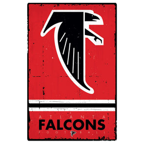 Atlanta Falcons 22'' x 34'' Retro Logo Poster