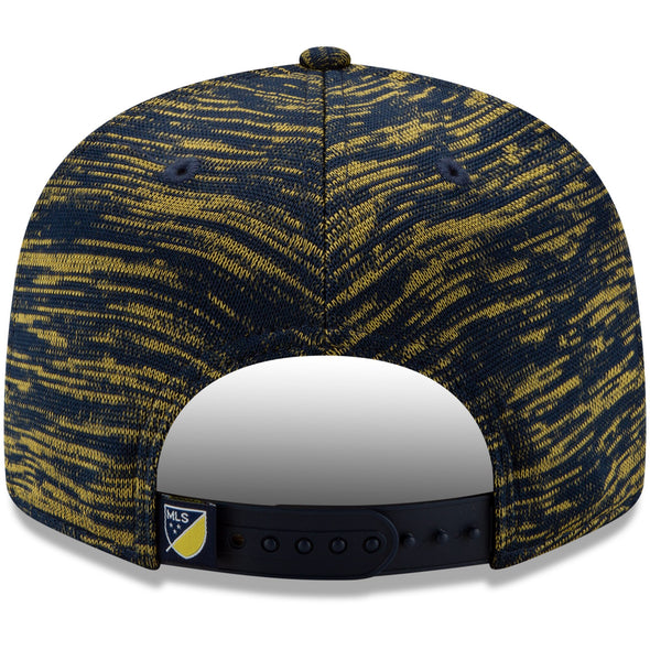 MLS LA Galaxy New Era Navy On-Field Collection 9FIFTY Snapback